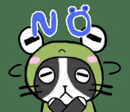 Frog cat1 sticker #11626289