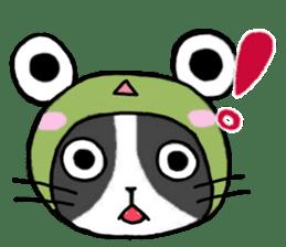 Frog cat1 sticker #11626292