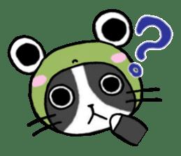 Frog cat1 sticker #11626293