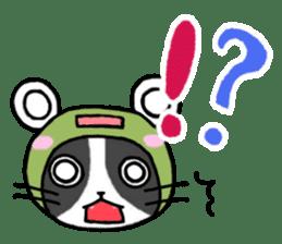 Frog cat1 sticker #11626294