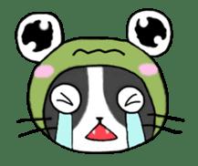 Frog cat1 sticker #11626306