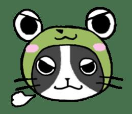 Frog cat1 sticker #11626308
