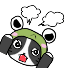 Frog cat1 sticker #11626312