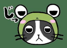 Frog cat1 sticker #11626324