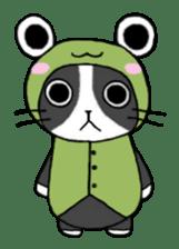 Frog cat1 sticker #11626327