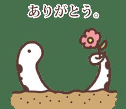 Sincere spotted garden eel. sticker #11636270