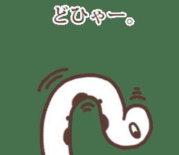 Sincere spotted garden eel. sticker #11636274