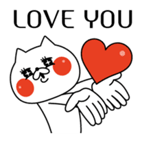 Cat expression is too rich sticker #11639041