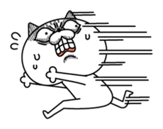 Cat expression is too rich sticker #11639051