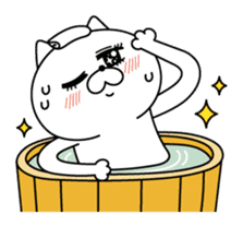 Cat expression is too rich sticker #11639063