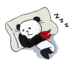 Banda the Lazy Panda sticker #11647159