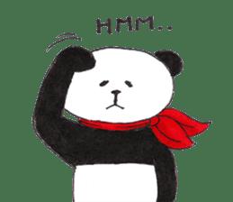Banda the Lazy Panda sticker #11647160