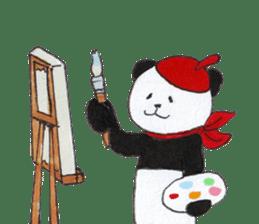 Banda the Lazy Panda sticker #11647171