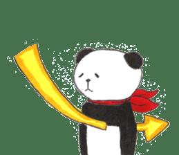 Banda the Lazy Panda sticker #11647180