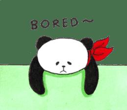 Banda the Lazy Panda sticker #11647188