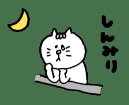Kawaii White Kitty Summer sticker #11655999