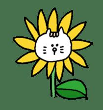 Kawaii White Kitty Summer sticker #11656002