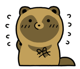 Raccoon dog & Fox sticker #11659908