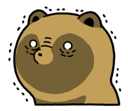 Raccoon dog & Fox sticker #11659910