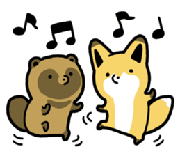 Raccoon dog & Fox sticker #11659940
