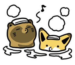 Raccoon dog & Fox sticker #11659941