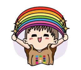 Rainbow Boy! sticker #11660714