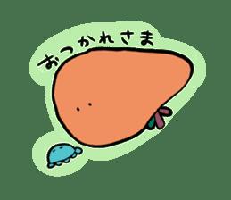 liver sticker #11665198