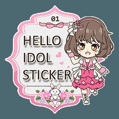 Hello idol sticker 01