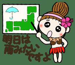 Hawaiian Girl ocyame of honorific Hen 4 sticker #11679586