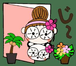 Hawaiian Girl ocyame of honorific Hen 4 sticker #11679589