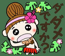 Hawaiian Girl ocyame of honorific Hen 4 sticker #11679613