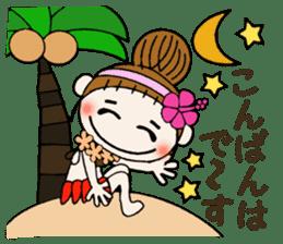 Hawaiian Girl ocyame of honorific Hen 4 sticker #11679621