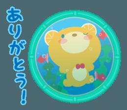 Aquarium bear! sticker #11681683