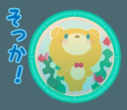 Aquarium bear! sticker #11681684
