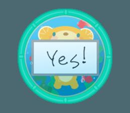 Aquarium bear! sticker #11681688