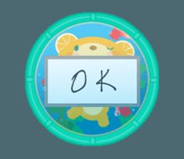 Aquarium bear! sticker #11681690