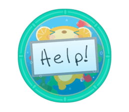 Aquarium bear! sticker #11681692