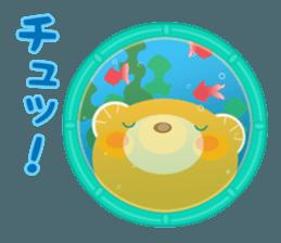 Aquarium bear! sticker #11681697