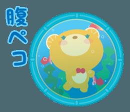 Aquarium bear! sticker #11681698