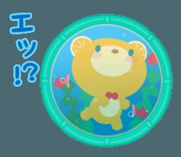 Aquarium bear! sticker #11681700