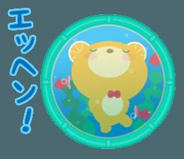 Aquarium bear! sticker #11681702
