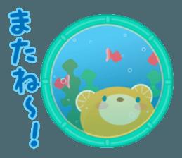 Aquarium bear! sticker #11681704