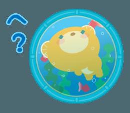 Aquarium bear! sticker #11681705