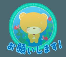 Aquarium bear! sticker #11681713