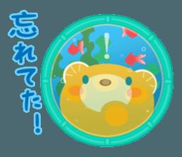 Aquarium bear! sticker #11681714