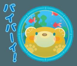 Aquarium bear! sticker #11681715