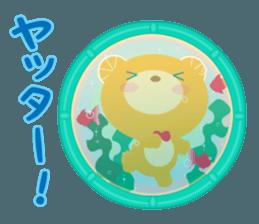 Aquarium bear! sticker #11681716