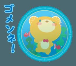 Aquarium bear! sticker #11681718