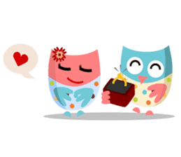 Owliver: Happy Life sticker #11682482