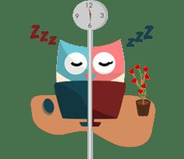 Owliver: Happy Life sticker #11682518